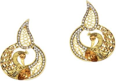 Prita Sparkling Mayur Alloy Chandbali Earring