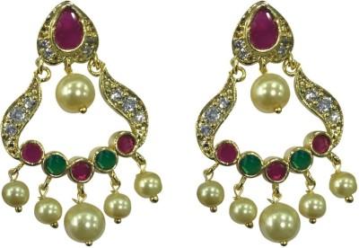 Sri Kapi Pearls FE133 Cubic Zirconia Alloy Chandbali Earring