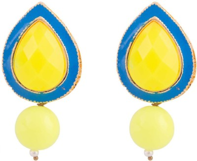 Kshitij Jewels Droped Shaped Alloy Drop Earring