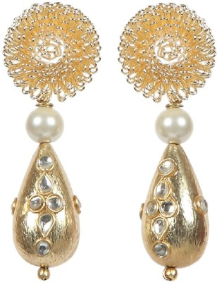Envy Short Pearl Yellow Gold Drop Earring
