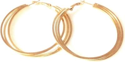 Gliteri golden classic Alloy Hoop Earring