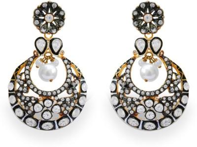 SuvidhaArts Wedding Fashion Cubic Zirconia Metal Drop Earring