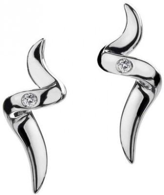 JDX Spring Sparkle Swarovski Zirconia Silver Stud Earring