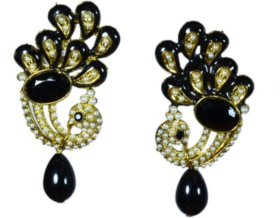 Colors of Sin Traditional peacock - Black Metal Dangle Earring, Drop Earring