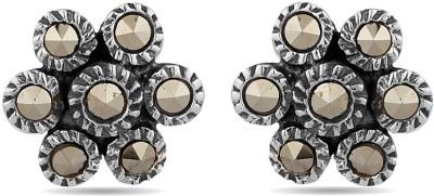 Voylla Crystal Sterling Silver Stud Earring
