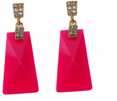 Modish Look Beautiful pink Sparkling Alloy Drop Earring