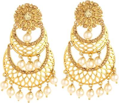 Bling N Beads ethnic partywear indian Silver, Alloy Drop Earring