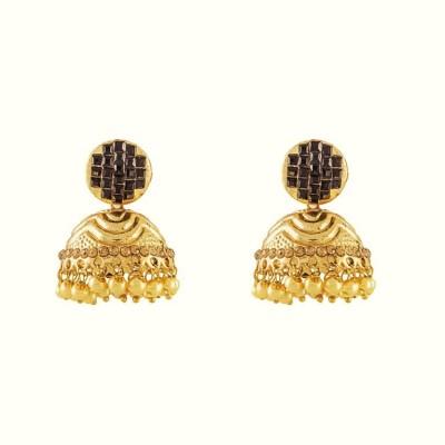 Art Nouveau Wedding Wear Brass Jhumki Earring
