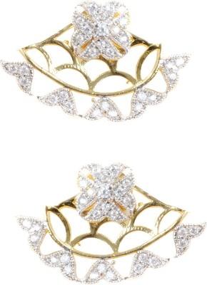 Saraa Spring Sparkle Cubic Zirconia Metal Cuff Earring