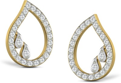 Sparkles Beautiful Pressure set Yellow Gold 18kt Diamond Stud Earring