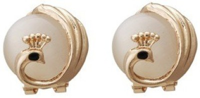 Kalaplanet Elegant Peacock With Opal Lever Alloy Stud Earring