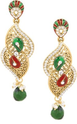 SIDDH Royal Rajasthani Alloy Chandelier Earring
