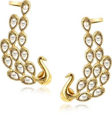 Spargz Peacock Brass Cuff Earring