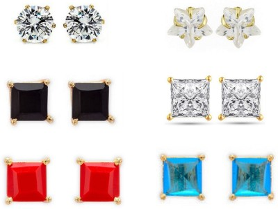 Archi Collection Solitaire Cubic Zirconia Alloy Earring Set