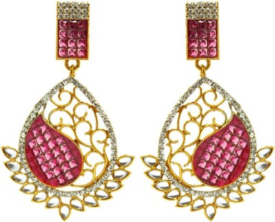 Peora Invisible Setting Alloy Drop Earring