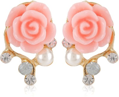 Moedbuille Pink Insignia [MBER00601] Cubic Zirconia Alloy Stud Earring