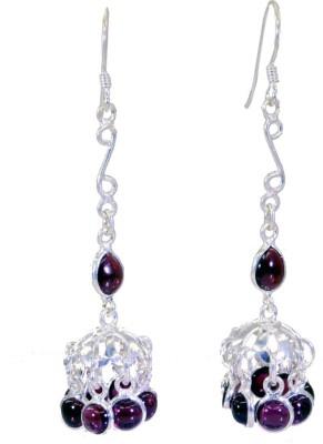 Riyo Dazzlingstar Garnet Garnet Sterling Silver Dangle Earring