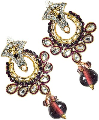 Surat Diamond Clustering Flower Metal Chandbali Earring at flipkart