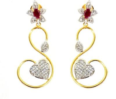 High Fashion CZ Metal Drop Earring