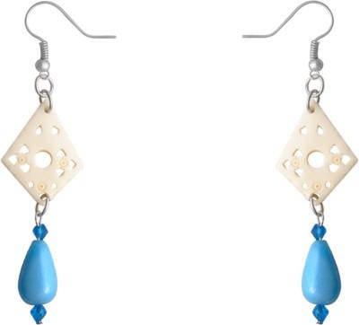 Kenway Retail Aaralyn Lattice Bone, Glass Dangle Earring