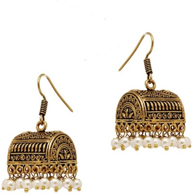 Jaipur Mart Gold Plated Treasure Box Crystal Alloy Jhumki Earring