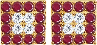 JacknJewel Vintage Square Yellow Gold 18kt Diamond Stud Earring