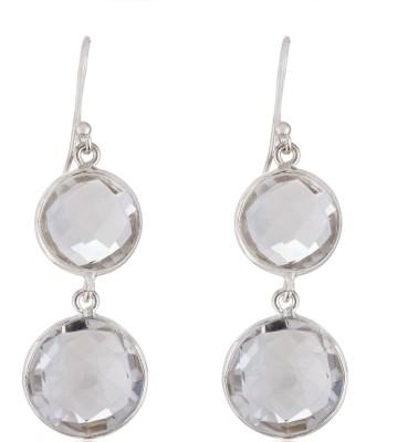 Aarohee Dazzling Collection Tourmaline Sterling Silver Dangle Earring