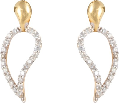 Gothis Mango Shape Gold Stud Earring
