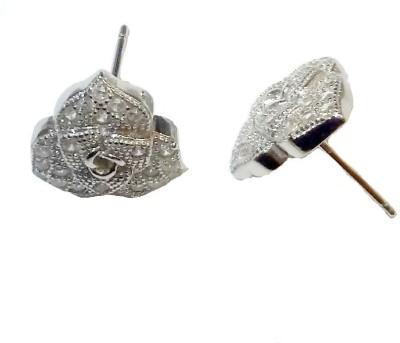 Vummidi Bangaru Chetty & Sons Sparkling Dazzle Sterling Silver Stud Earring