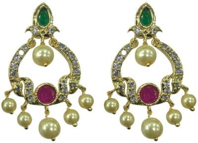 Sri Kapi Pearls FE121 Cubic Zirconia Alloy Chandbali Earring