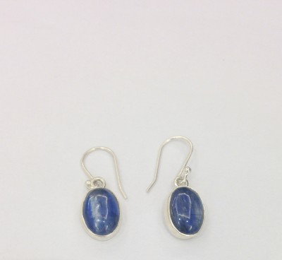 Aarohee Blue Sparkle Sterling Silver Dangle Earring