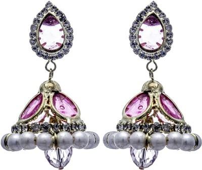Silverkartz Princess Delight Cubic Zirconia Alloy Jhumki Earring