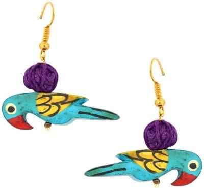 Aanjaneys Indian Ethnics Stylist Wood Dangle Earring