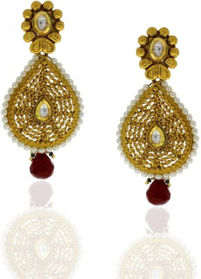 Anuradha Art Spring Sparkle Metal Drop Earring