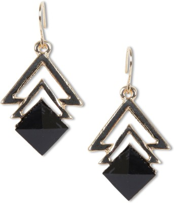 Rubans Gold Square Alloy Dangle Earring