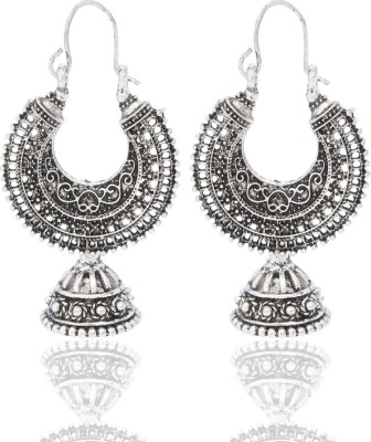 CTW Oxidise Fusion Antique Style Alloy Hoop Earring