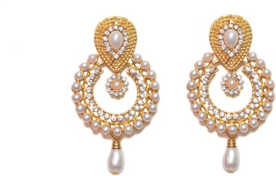 NM Products Golden Circle Alloy Drop Earring