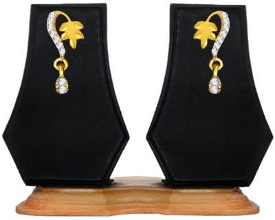 Beingwomen Gold Plated Shiny CZ Alloy Drop Earring