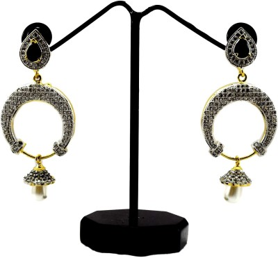 Bharat Sales Most Pretty And Latest Fashion With Cz Cubic Zirconia Alloy Earring Set
