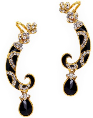 Jaipur Mart Sword Shape Black Polki Alloy Cuff Earring