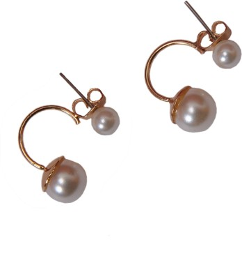 Narbman Double Pearl Alloy Plug Earring