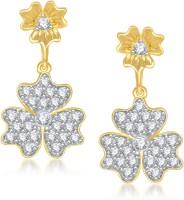VK Jewels Beautiful Flower Cubic Zirconia Alloy Drop Earring