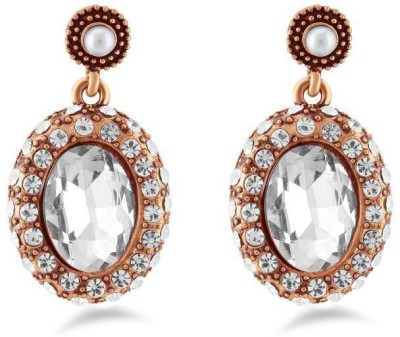 Jazz Jewellery Beautiful & Exquisite AD StoneEarringswith White Pearl Alloy Drop Earring