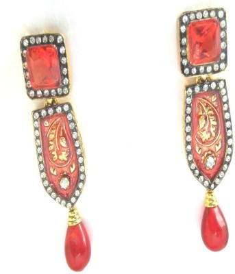 Fashion Pitaraa Choki Stone Copper Drop Earring