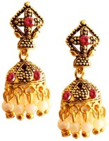 Being Women Elegant Gold Butterfly Alloy Jhumki Earring
