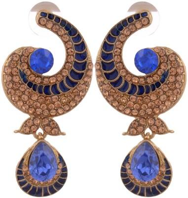 Grandiose Gold Non-Precious Metal Copper Dangle Earring