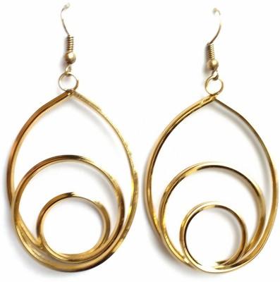 modifier Golden Loop Alloy Dangle Earring