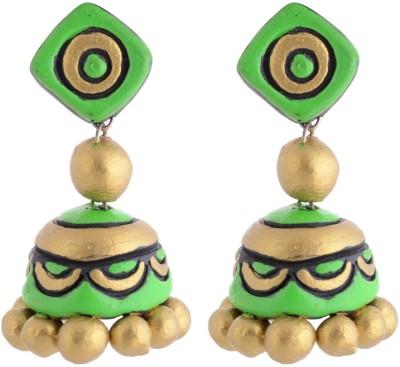 I Made It Jewellery Terracotta Jhumki Earring