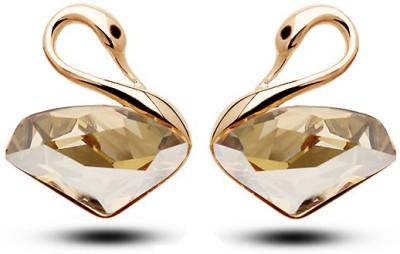 Silver Shoppee Designer Crystal Alloy Stud Earring