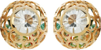 Amroha Crafts Golden Appeal Alloy Stud Earring